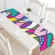 WUwuWU Joy Design Style Fashion Create Table Runner Kitchen Dining Table Runner 16x72 Inch for Dinner Parties Events Decor