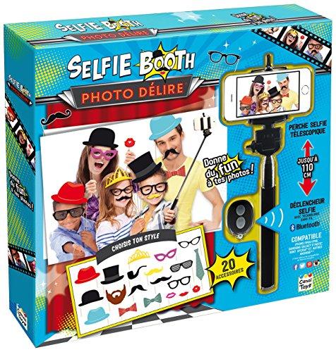 Set Photo Booth Mascherine per Foto Selfie con Bastone per Selfie e Telecomando Matrimonio e Feste