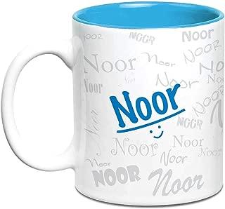 Hot Muggs® Me Graffiti Mug - Noor Personalised Name Ceramic, 315ml, 1 Unit