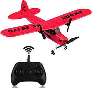 RC Plane FX-803 2.4GHz 2 Channel Remote Control Airplane with 6-Axis Gyro Easy to Fly RTF Plane for Beginner Boys Kids