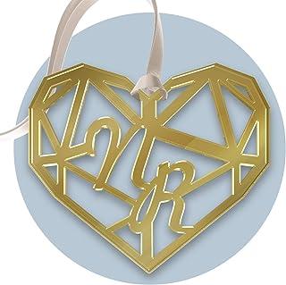 FAMA 5 Cartellini tag in plexiglass oro per bomboniere matrimonio personalizzabili con incisione al laser
