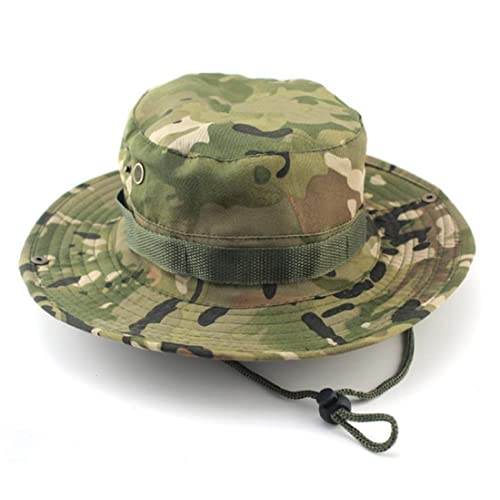 16fa86910149b9 Westeng Camouflage Hat Boonie Fisherman Rounded Sun Protection Hat Outdoor  Climbing Jungle Men Women Tactics Cap