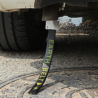 Antistatischer Flexstreifen für das Auto, elektrostatischer Gurt, für Reisen, vermeidet antistatische Erdungsdraht Gurte, reflektierend, statische Elektrizität mit einem einzigen Kupferdraht (schwarz)