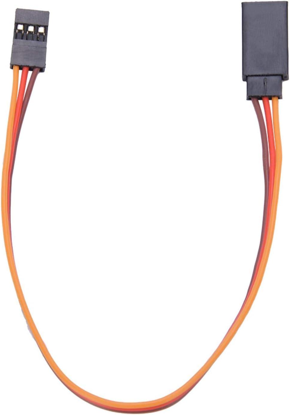 Cable de Cable de Cable de Extensi/ón Servo de Control Remoto JR para RC Futaba Cable de Extensi/ón Servo Macho a Hembra de 10 piezas 500mm