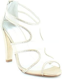 Womens Desire Satin Evening Dress Sandals Gold Metallic 8.5 M US