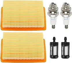 Coolwind (Pack of 2 Air Filter with Spark Plug Fuel Filter for STIHL BR340 BR340L BR380 BR420 BR420C SR340 SR420 Blower 4203 141 0301
