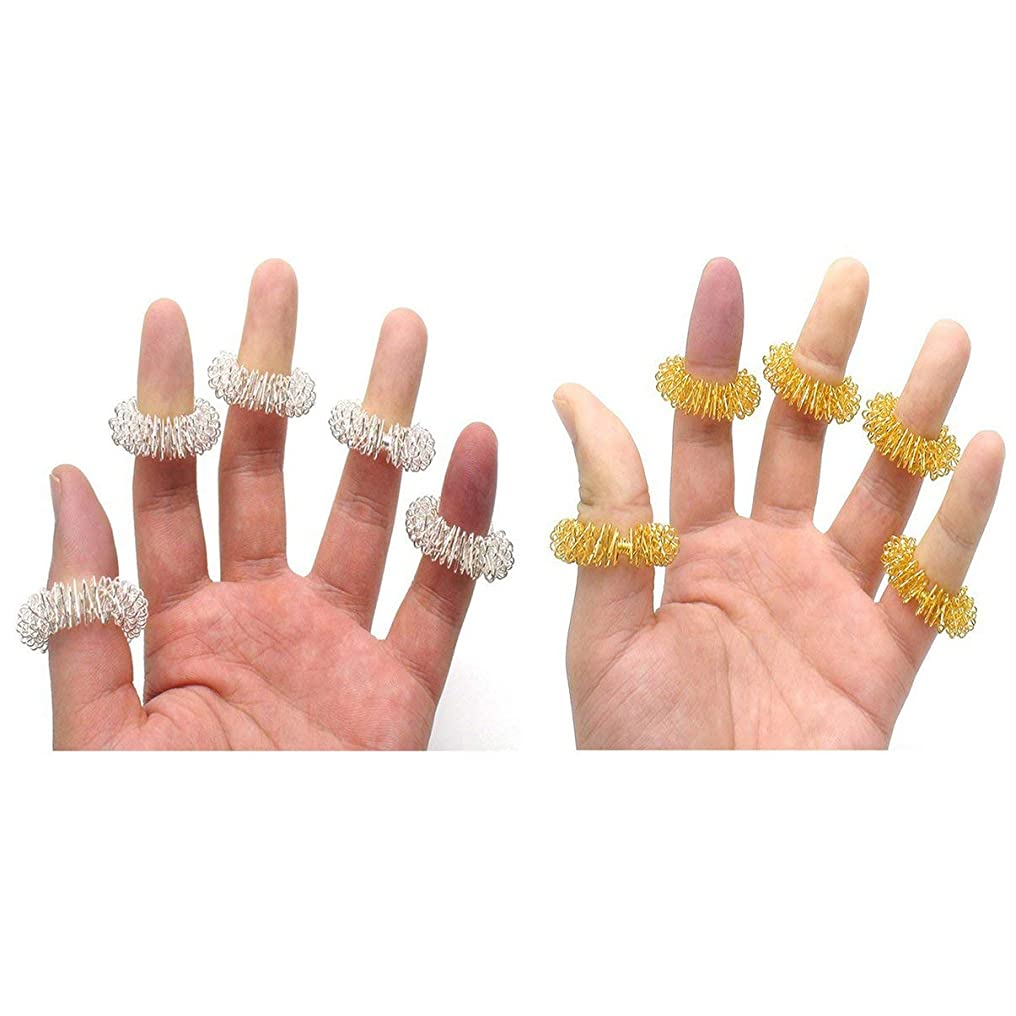 事前にこだわり風変わりなFinger Massage Ring Acupuncture Massage Ring Health Care Body Massager