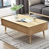 ZXMDP Mesa de Centro pequeña Salon elevable y Extensible menzzo Sofa Blanca Lack Brillo Palet Esquina lacada mesas Modernas desplegable elevables