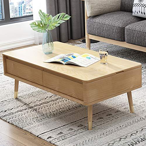 ZXMDP Mesa Salon Elevable Y Extensible Menzzo Sofa Centro Blanca Lack De Brillo Pequeña Palet Esquina Lacada Mesas Modernas Desplegable Elevables