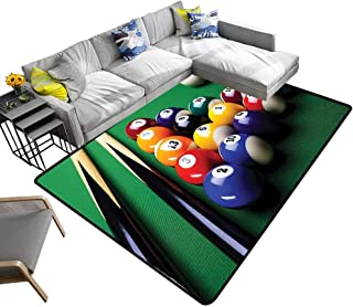 Abstract Design Area Rug Billiard Pool Balls Arrangement Snooker Contest Beginning Entertainment Game Picture Add Fashion to Room's Decor 6' X 9'