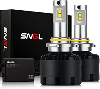 SNGL 9005 LED Headlight Bulbs High and Low Beam Conversion kit Super Bright - Adjustable - 110w 12,400Lm - 6000K Bright White - 2 Yr Warranty