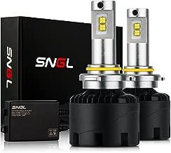 SNGL Super Bright LED Headlight Conversion Kit - Adjustable-Beam Bulbs - 9005 (H10, HB3, 9145) - 110w 12,400Lm - 6000K Bright White - 2 Yr Warranty