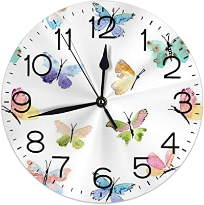Colourful Flower And butterfly Deco Round Shape Picture Frame