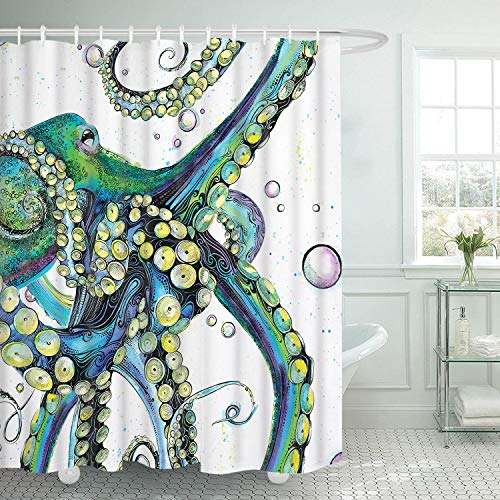 Smurfs Yingda Bathroom Shower Curtain Colorful Fashion...