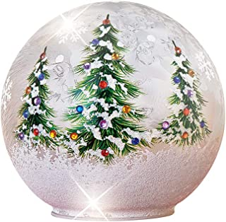 Collections Etc Lighted Christmas Tree Glass Ball Tabletop Décor Large