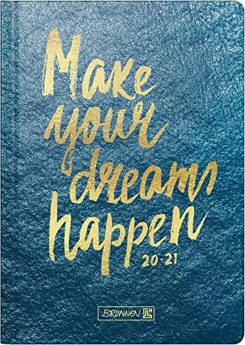 """BRUNNEN 1072120201 """"Mare"""", Wochenkalender/Schülerkalender 2020/2021, 2 Seiten = 1 Woche , Blattgröße 14,8 x 21 cm , A5 , Hardcover-Einband wattiert"""