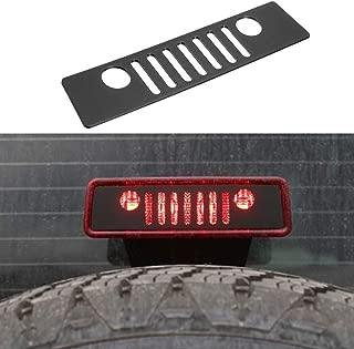 Autou Brake Light Cover Black for 2007-2017 Jeep Wrangler JK JKU Unlimited Accessories