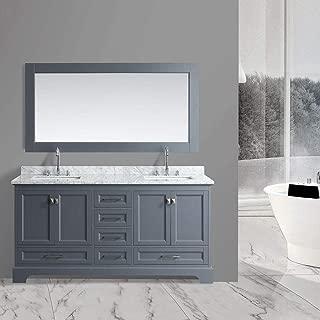 Design Element DEC068B-G 72-inch Bathroom Vanity in Gray