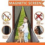 Magnet Fliegengitter Tür Insektenschutz 90x210 cm / 100x210 cm(Für Türen bis 86 x...