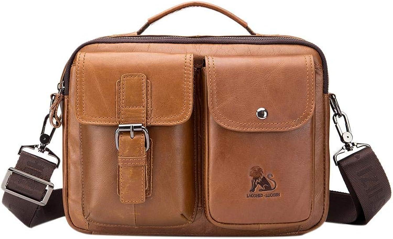 Crossbody Handbags Casual Shoulder Bags for Women Vintage Genuine Leather Business Handbags Men Casual Shoulder Crossbody Bag