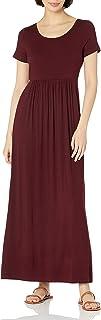 Daily Ritual Women's Jersey Short-Sleeve Scoop-Neck Empire-Waist Maxi Dress
