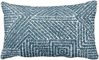 Traasd11an Fundas de almohada lumbar, diseño tribal geo, verde azulado, azul oscuro/verde geométrico/Batik/Boho, funda de cojín decorativa para sofá, dormitorio, coche, 12 x 50 cm