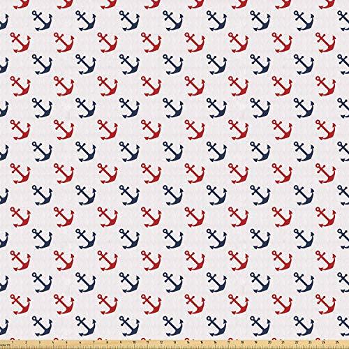 Juego de pegatinas decorativas para azulejos, anclajes diagonales náuticos, colores marinos, simplistas, vida marina, azul marino, 10,16 x 10,16 cm, adhesivos para azulejos de pared, 12 unidades