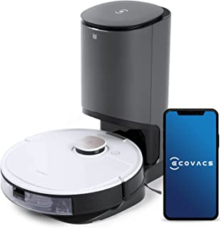 ECOVACS DEEBOT OZMO T8+ Robotic Vacuum Cleaner, TrueDetect 3D Technology, TrueMapping™ Navigation System, Auto-Empty Stati...