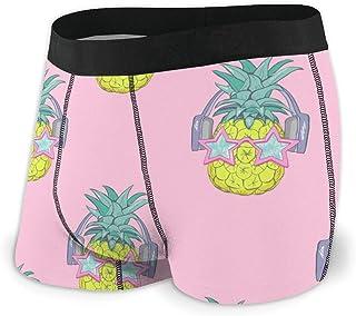 Men's Boxer Briefs Hip Underwear With Comfort Waistband Strawberry Pattern Background