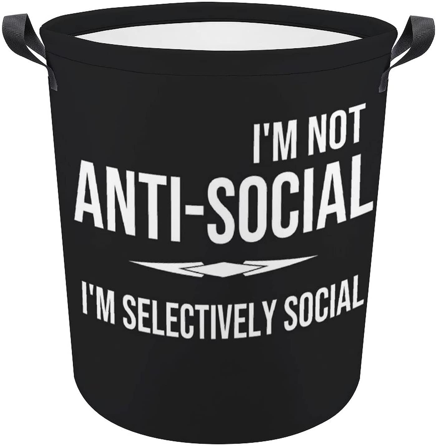 online shopping It is very popular Not Anti-Social Selectively Black Funny Laundr Gift Oxford Quote