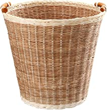 Recycling Bin Woven Basket Trash Can Waste Basket Cylindrical Garbage Container Bin Bathrooms Kitchens/Home/Offices/Handwo...