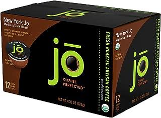 NEW YORK JO: 72 Cup Organic Medium Dark Roast Single Serve Coffee for Keurig K-Cup Brewers, Keurig 1.0 & 2.0 Eco-Friendly Cup, Our Most Popular Signature Blend! Gluten Free Gourmet Coffee by Jo Coffee