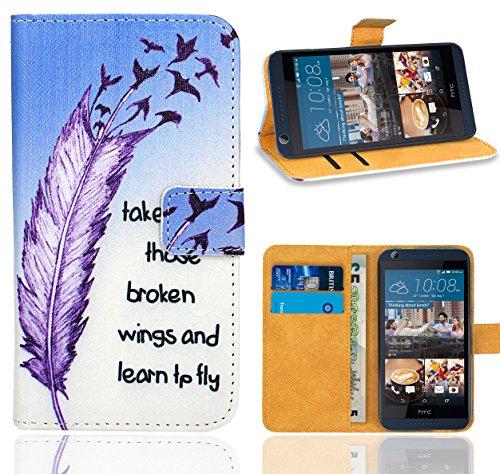 HTC Desire 626 626G Handy Tasche, FoneExpert® Wallet Hülle Flip Cover Hüllen Etui Ledertasche Lederhülle Premium Schutzhülle für HTC Desire 626 626G (Pattern 7)