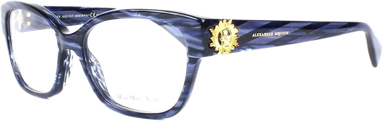 Alexander Mcqueen amq 42468RP, Designer Eyeglasses Caliber 53
