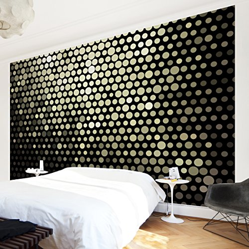 Apalis Vliestapete Disco Background Fototapete Breit | Vlies Tapete Wandtapete Wandbild Foto 3D Fototapete für Schlafzimmer Wohnzimmer Küche | schwarz, 94903
