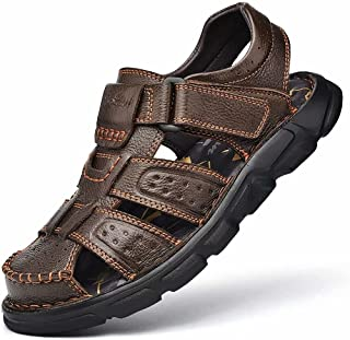 SIKABU Men's Leather Adjustable Handmade Sandals Sports...