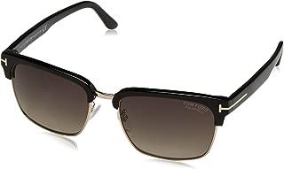Men's River Clubmaster Sunglasses in Shiny Black Polarised FT0367 01D 57