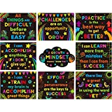 9 Pieces Growth Mindset Posters Inspirational...