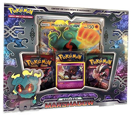 Pokemon Coffret Marshadow-GX 3 boosters-Jeu de Cartes à Collectionner, POKMARGX01