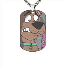 XIOZURV Dog in Lavender Grass Dog Tag Necklace Military Army Style - Aluminum