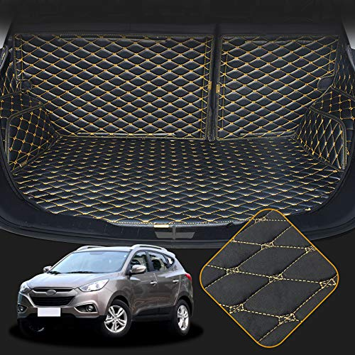 OREALTECH Kofferraummatte Auto für Hyundai IX35 2010-2017 Allwetter XPE Leder Kofferraumwanne 3D All-Inclusive-Stil Schmutzfangmatte