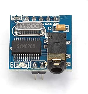 SYN6288 Speech Synthesis Module Text-to-Speech TTS Modole with Real-Life Pronunciation,Stand 3.5 mm Stand Audio Interface Module,for Vehicle Scheduling, Car Navigation