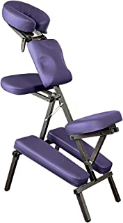 NRG Grasshopper Portable Massage Chair - Fully Adjustable Seat, Chest Pad, Head Cradle and Arm Supports - Lightweight Chair, Compacts for Easy Transport - Carrying Case Included - Color: Purple