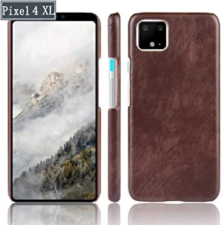 Mobile Phone Case, Leather Texture, TPU Bumper Hard PC Mixed Protective Case for Google Pixel 4 /Google Pixel 4 XL,E,4XL