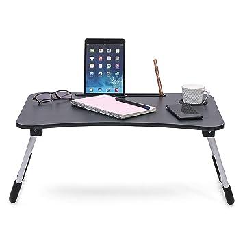 Varudi Fashion Multipurpose Foldable Laptop Table With Cup Holder Drawer Study Table Bed Table Breakfast Table Foldable And Portable Ergonomic Rounded Edges Non Slip Leg Black Buy Varudi Fashion Multipurpose Foldable Laptop