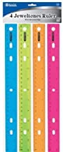 Jeweltones Color Ruler, 12 Inches, 1 Pack of 4 Rulers