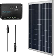 Renogy 100W Bundle Solar Panel Kit with Wanderer 30A PWM Charge Controller, 9in MC4 Adaptor