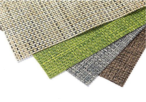 Lot de 4 sets de table PVC 30 x 45 cm Isolation résistant à la chaleur lavable Sets de table