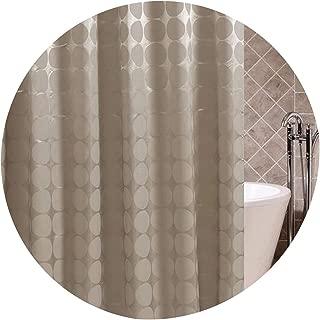 HEARTLIFE Bathroom Shower Curtain Polyester Fabric Bath Curtain Waterproof Moldproof Endless Pattern 180180/180200/200180,Gray,180cmW 180cmH