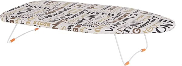 NHR Metal Tabletop Bed Ironing Board with Hanging Hook Foldable Compact Anti Slip Iron Board(74 * 34 * 14 cms)